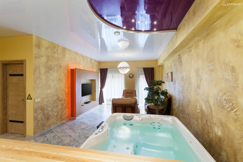 Jacuzzi Interior.Prabangus Apartamentai Su Ypac Didele Jacuzzi Ir Sauna